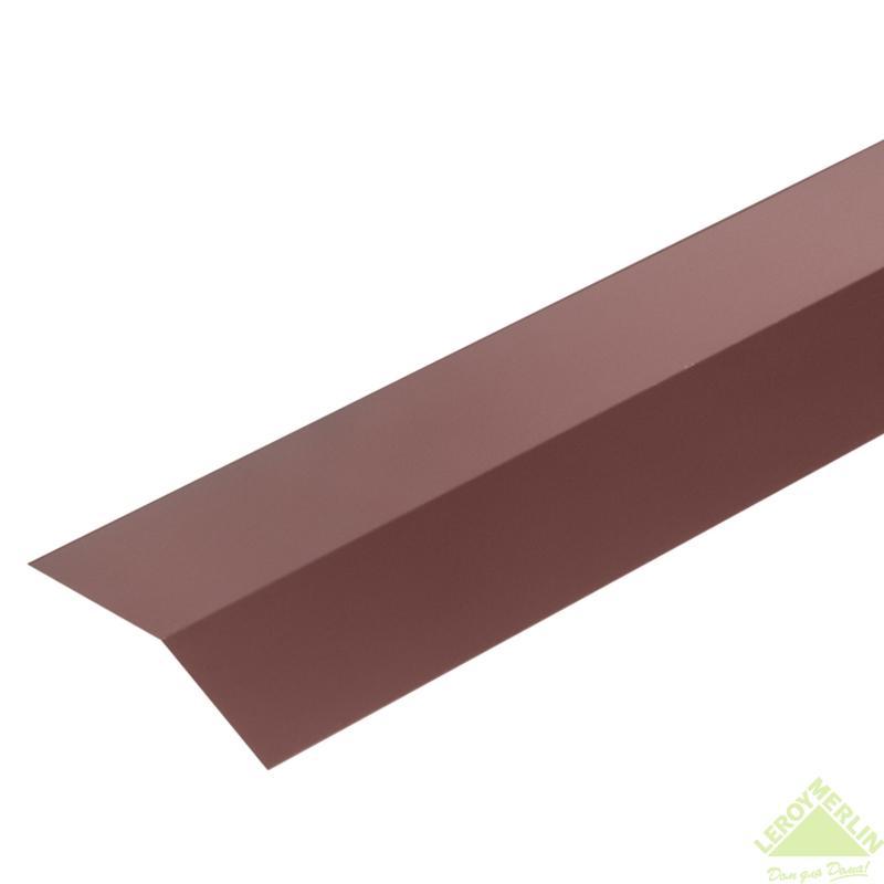 Карниз жұқа тақтайы, материалы-полиэстер жабындылы метал, ұзындығы 2 м, түсі-қоңыр