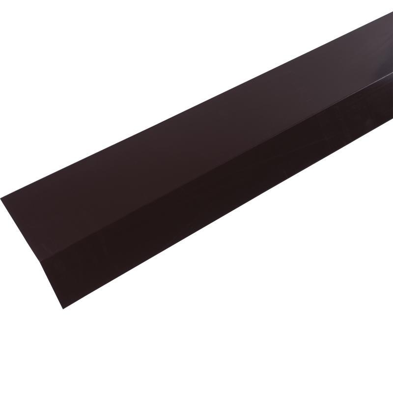 Планка карнизная с полиэстеровым покрытием 2 м цвет коричневый