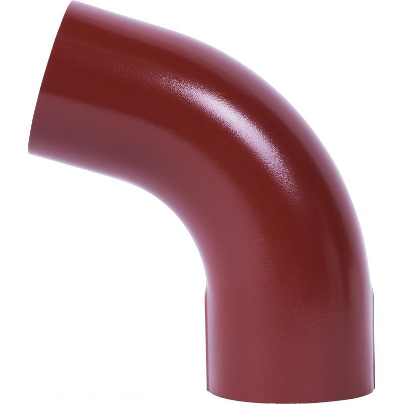 Отвод на 70° для трубы 80 мм цвет красный