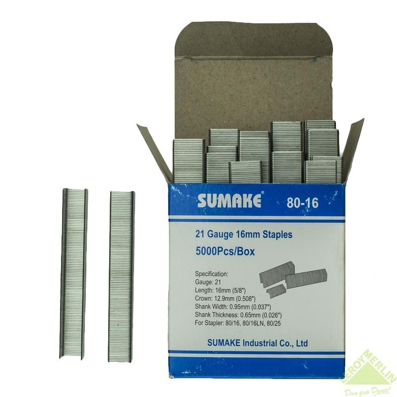 Скоба для степлера Sumake для 80/16 и 80/25, 16 мм, 5000 шт.
