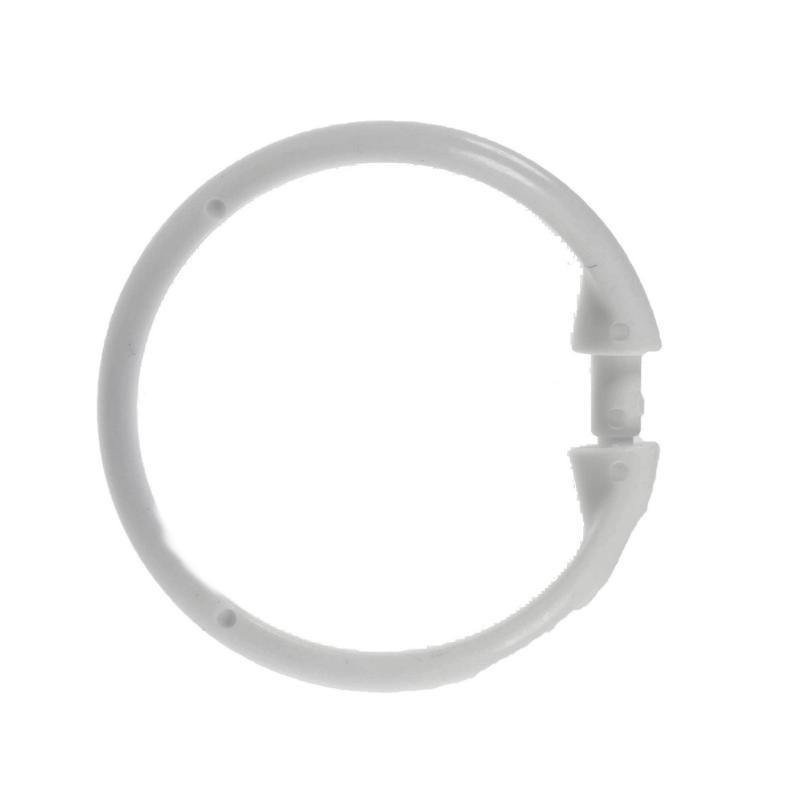 Кольца для шторок с клипсами Vidage, цвет белый