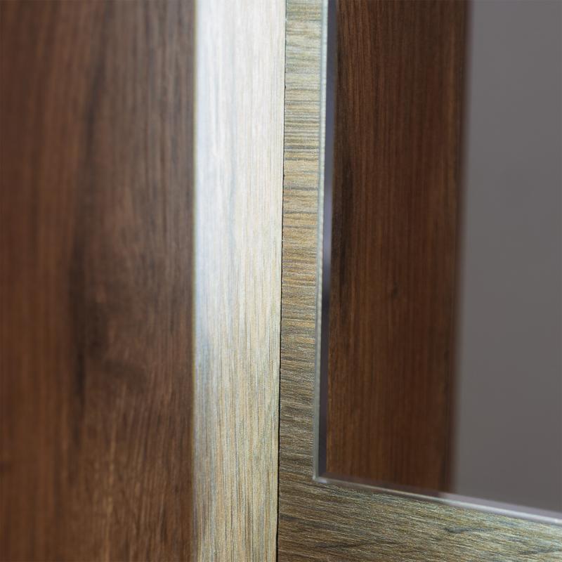 Зеркало с подсветкой «Мокка» 100 см, цвет дуб