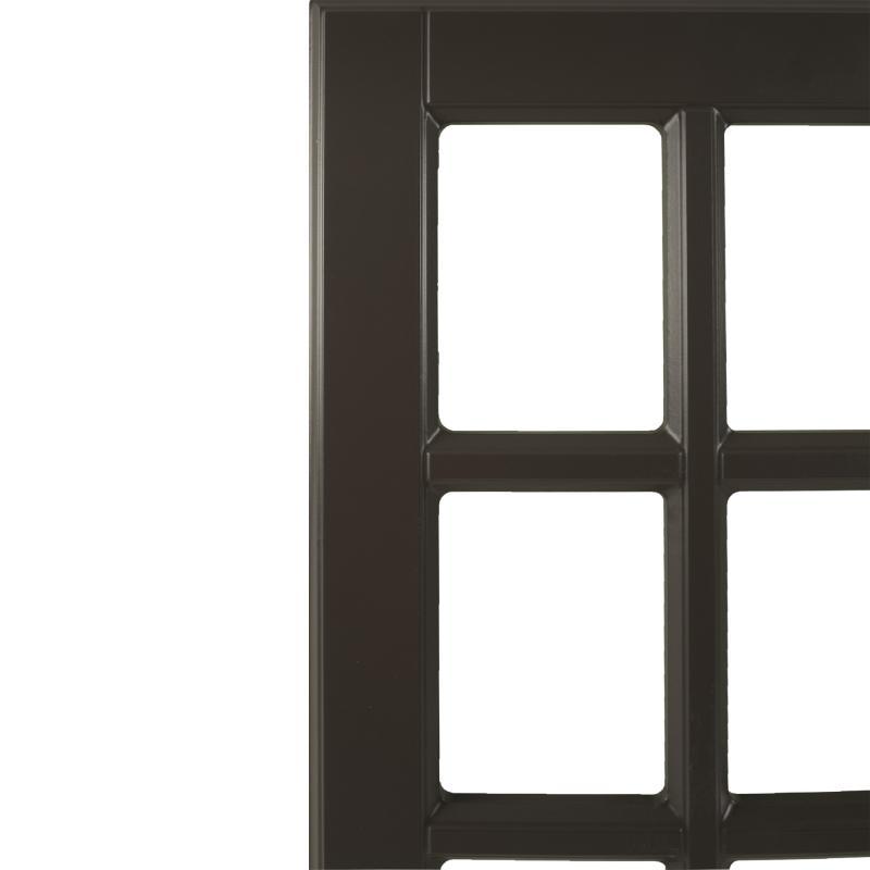 Витрина для шкафа Delinia «Леда серая» 40x70 см, МДФ, цвет серый