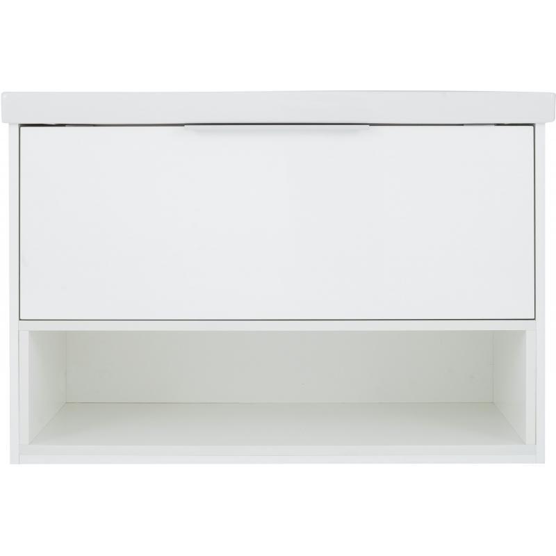 Тумба под раковину подвесная «Дана» 90 см цвет белый глянец
