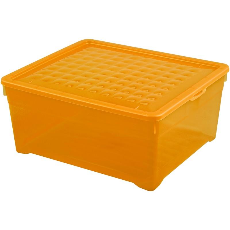 Контейнер Curver Textille прозрачный оранжевый, 18,5 л
