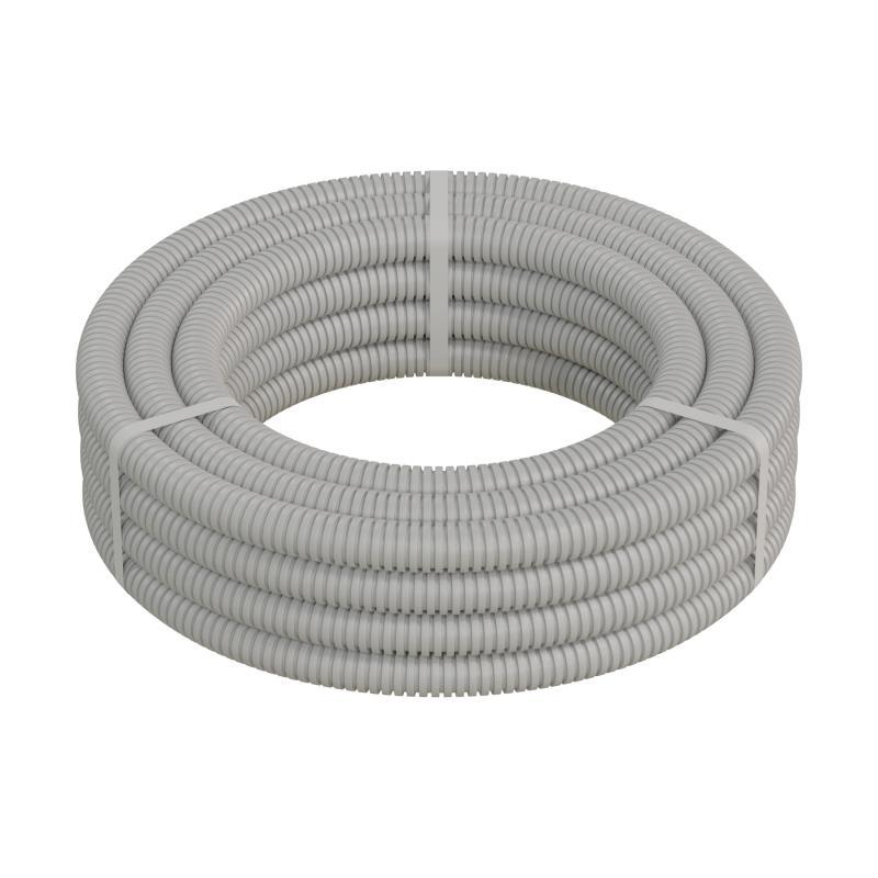 Труба гофрированная Экопласт ПВХ с зондом D25 мм 10 м