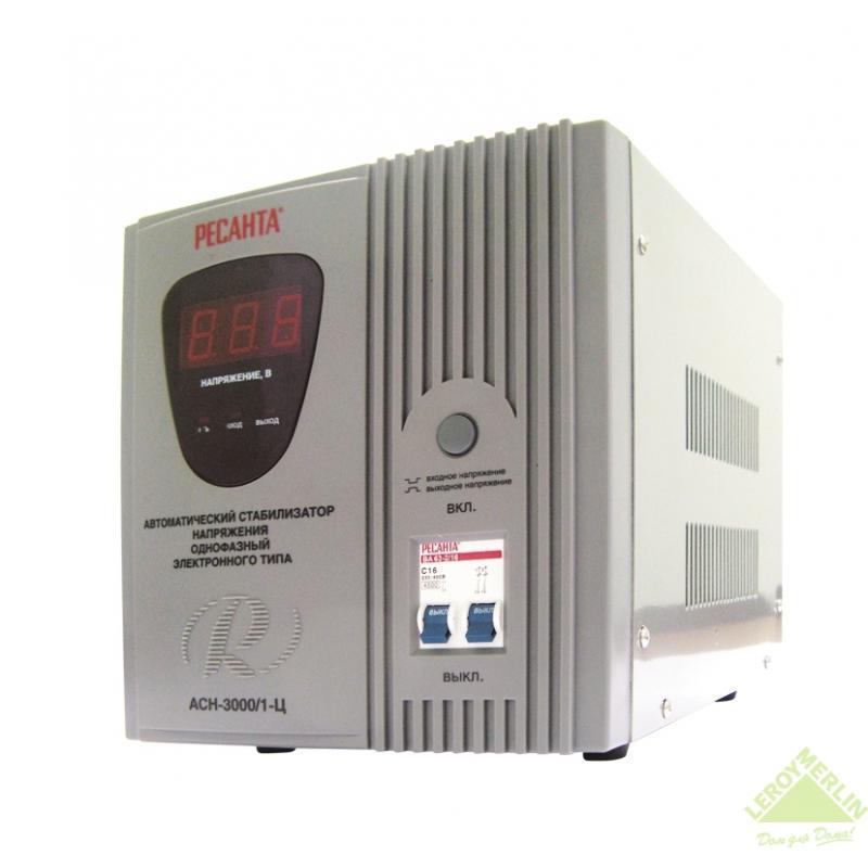 Стабилизатор напряжения Ресанта 3 кВт