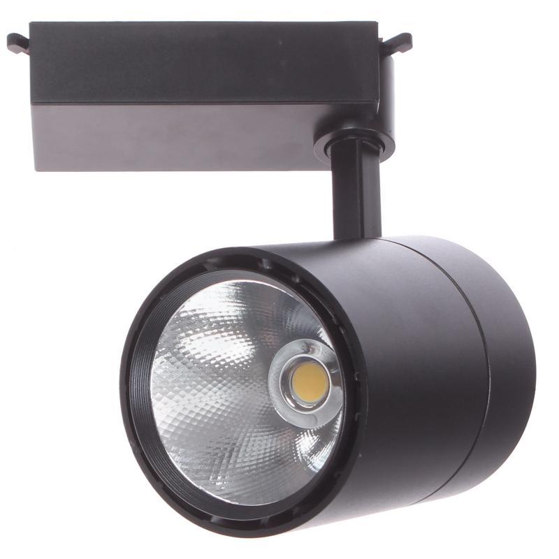 Трековый светильник светодиодный «Attento» 50 Вт, 20 м², цвет черный