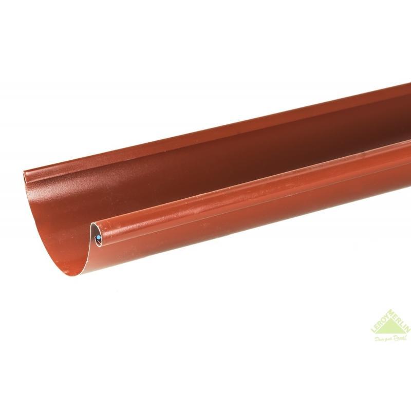 Желоб водосточный 125x2500 мм цвет красный
