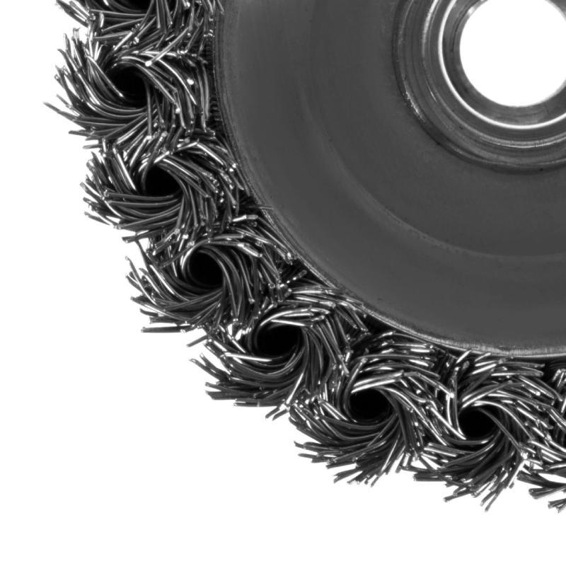 Щетка для УШМ чашечная из крученой проволоки Dexter 100 мм