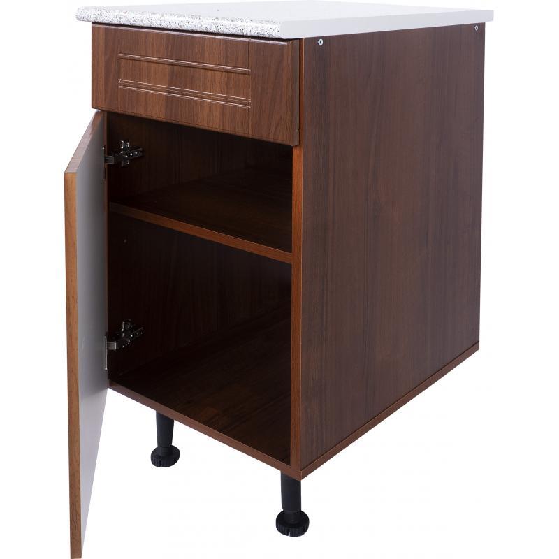 Шкаф напольный «Орех Ал» с фасадом и одним ящиком 40 см, цвет орех