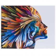 Картина без рамы 40х50 см «Цветные фантазии-1»