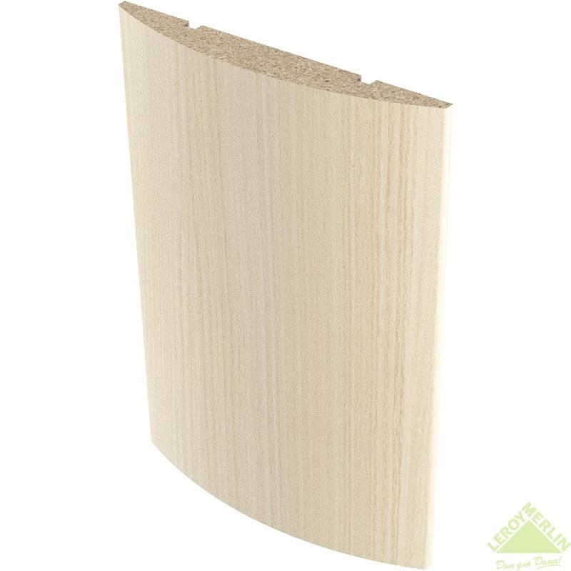 Наличник полукруглый 10x70 мм, ПВХ, белёный дуб