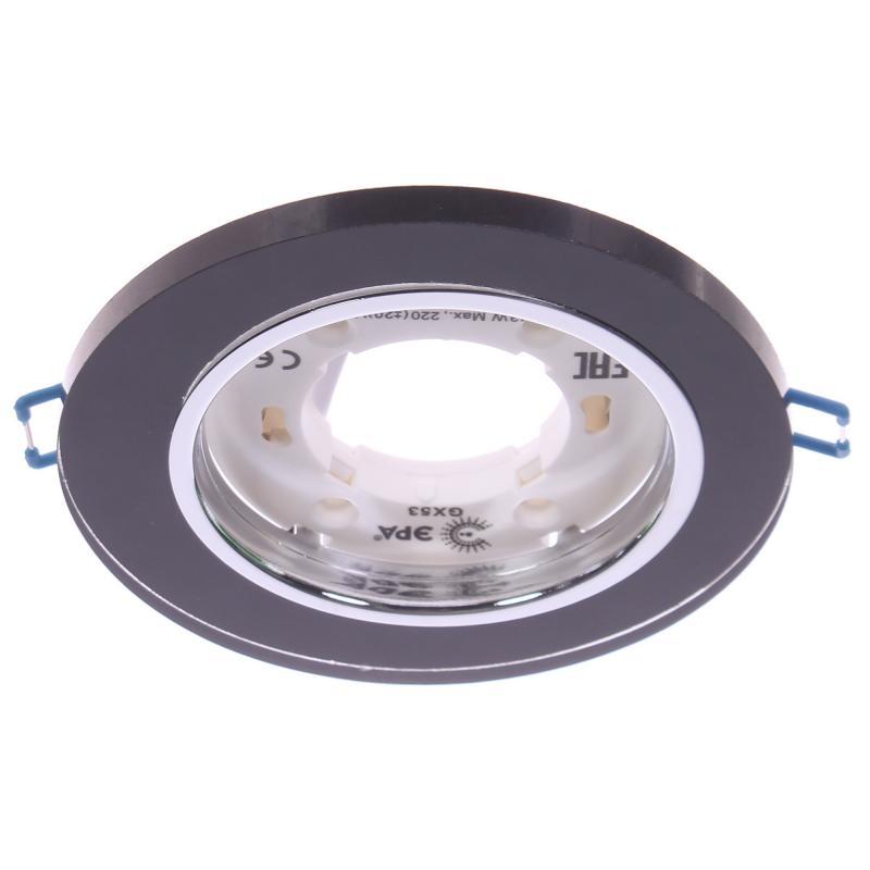 Светильник под лампу GX53 Эра 220 В, 13 Вт, цвет чёрный