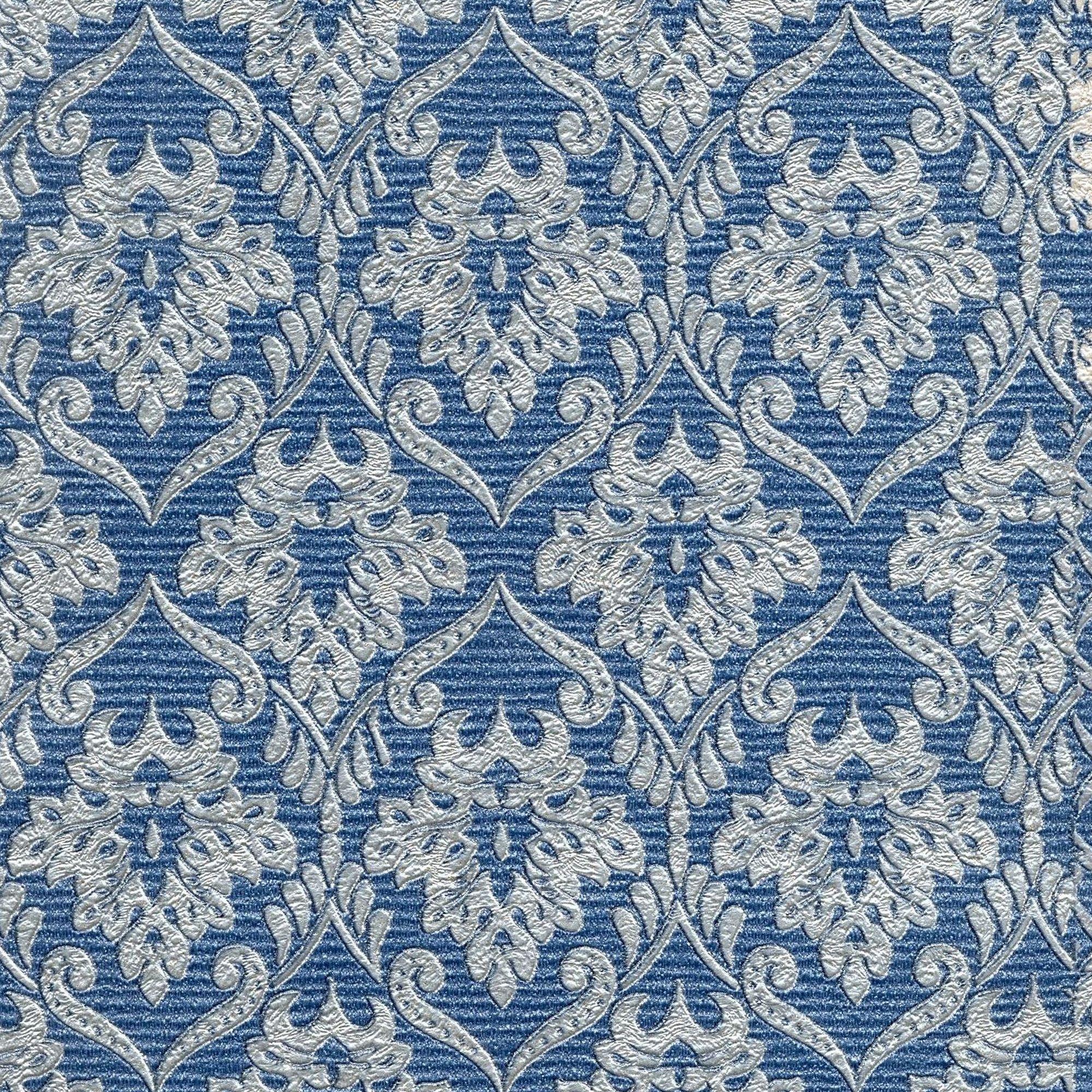 Обои флизелиновые 1.06х10 м узоры цвет синий ED 1067-20