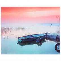 Картина на стекле «Лодка на озере» 40х50 см