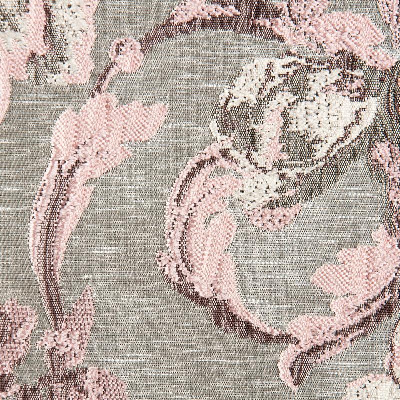 Ткань 1 п/м «Цветы», 3D-жаккард, 285 см, цвет розовый