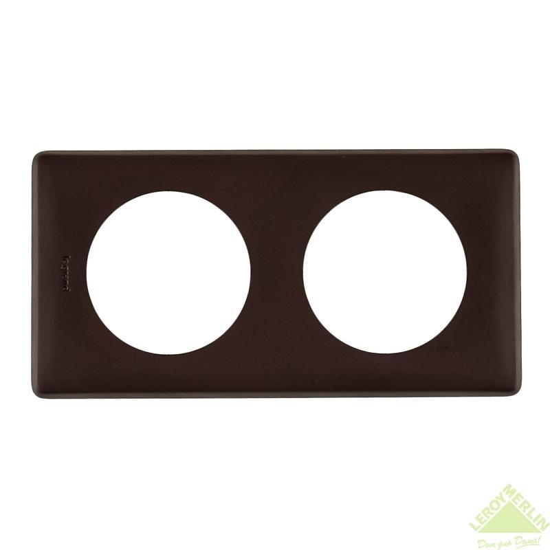 Рамка для розеток и выключателей Celiane, 2 поста, цвет мускат