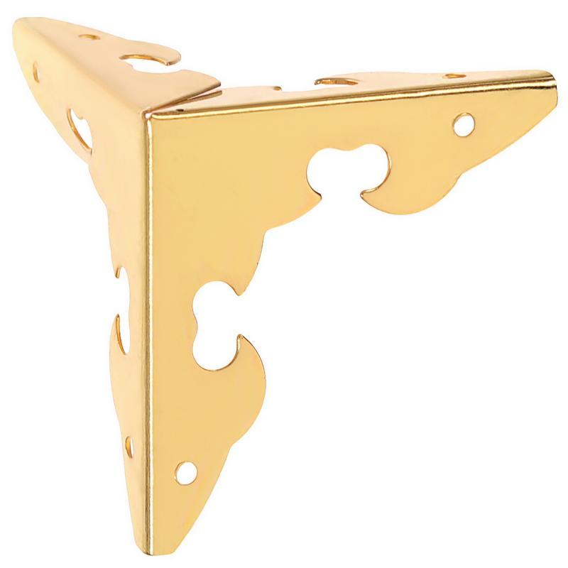 Уголок мебельный декоративный 30х30х30 мм, цвет золото, 4 шт.