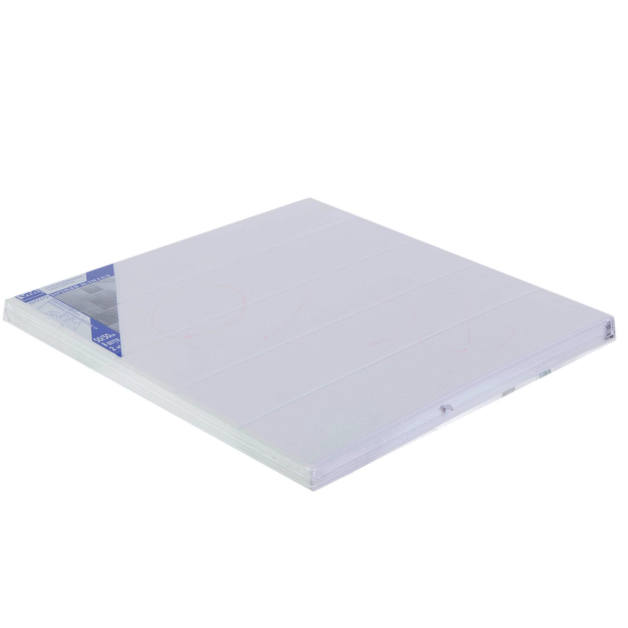 Плита потолочная Vtm 0804, 2 м2, 50х50 см, экструдированный полистирол