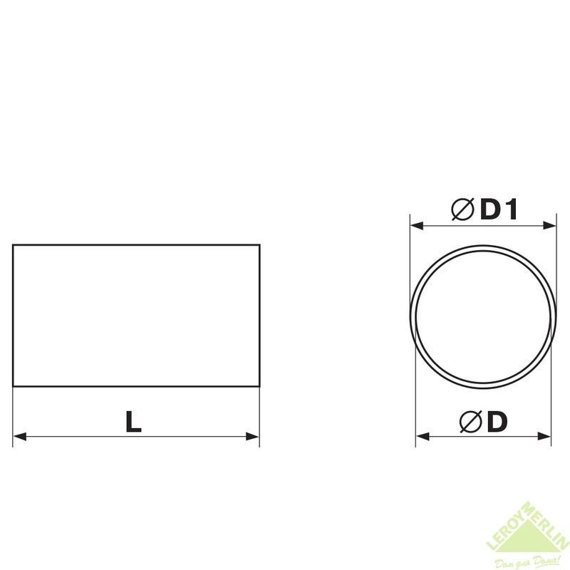 Канал круглый  Equation, 125x2000 мм