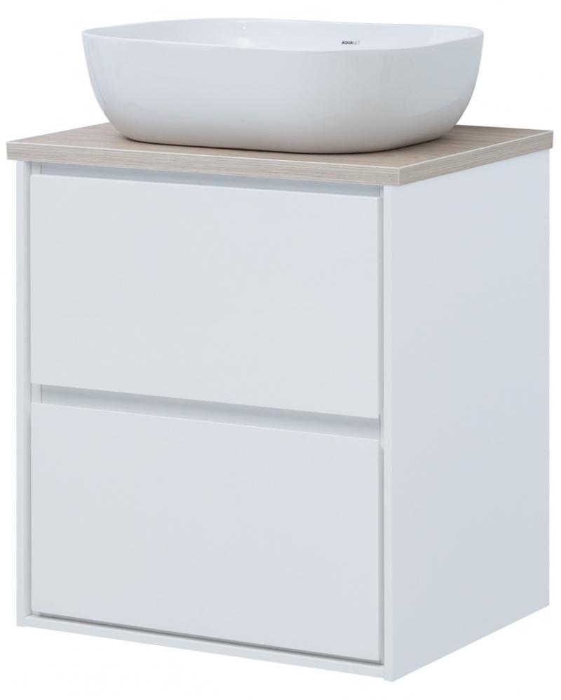 Тумба под раковину подвесная «Мокка» 60 см, цвет белый глянец