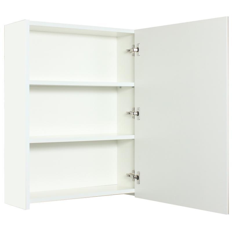 Шкаф зеркальный «Экко», 60 см, цвет белый глянец
