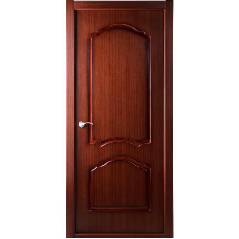 Дверь межкомнатная глухая Каролина 80x200 см, ламинация, цвет красное дерево