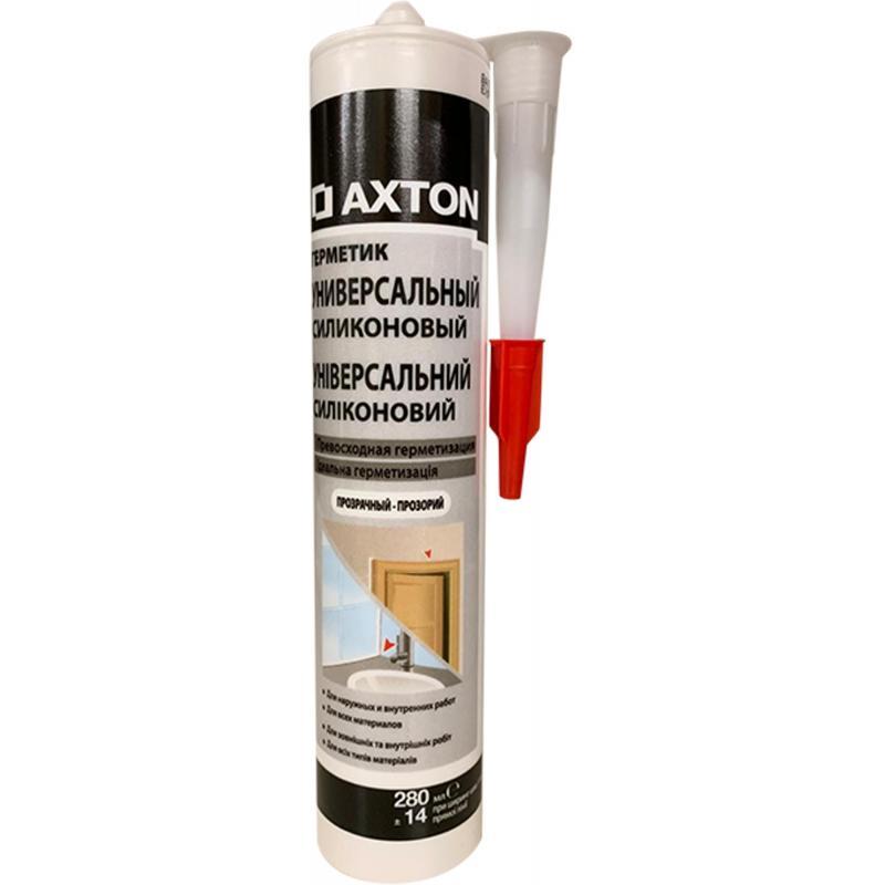Герметик силиконовый универсальный Axton, 280мл, прозрачный