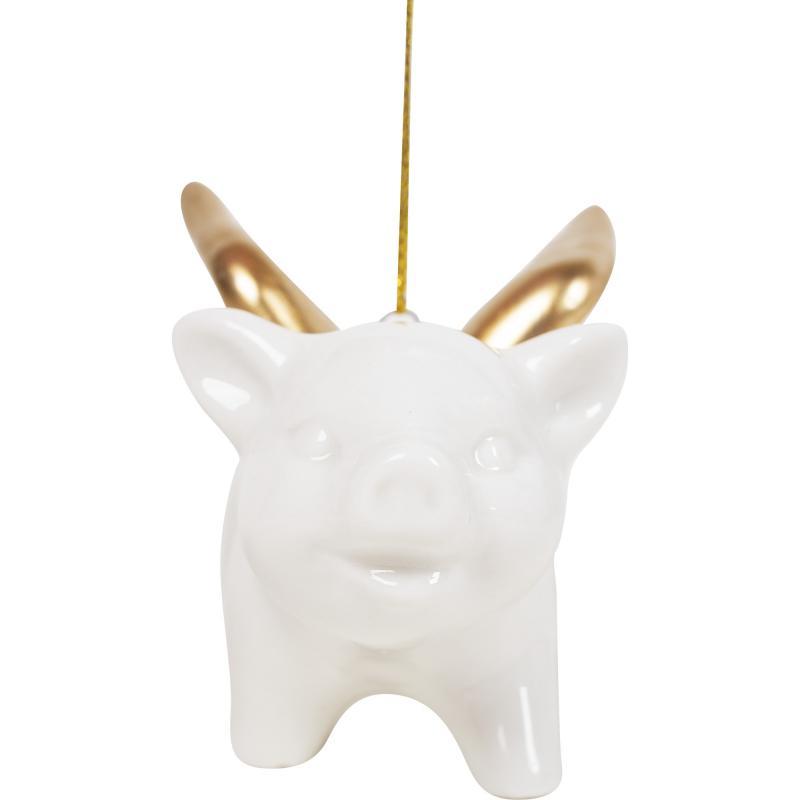 Украшение ёлочное «Свинка с крылышками», 6 см, фарфор