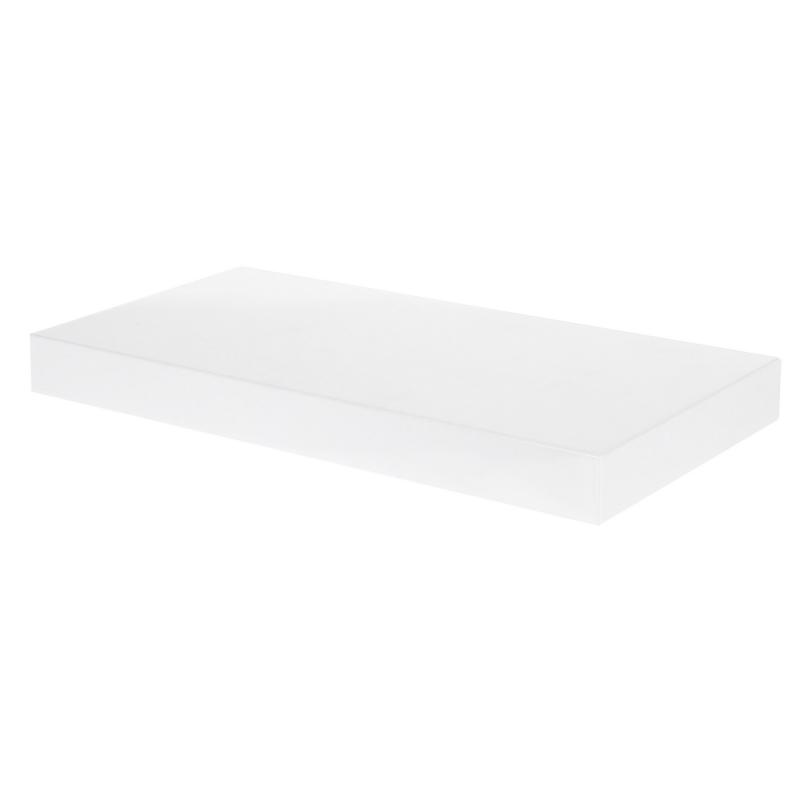 Полка для ванной комнаты 50х20 см цвет белый глянец