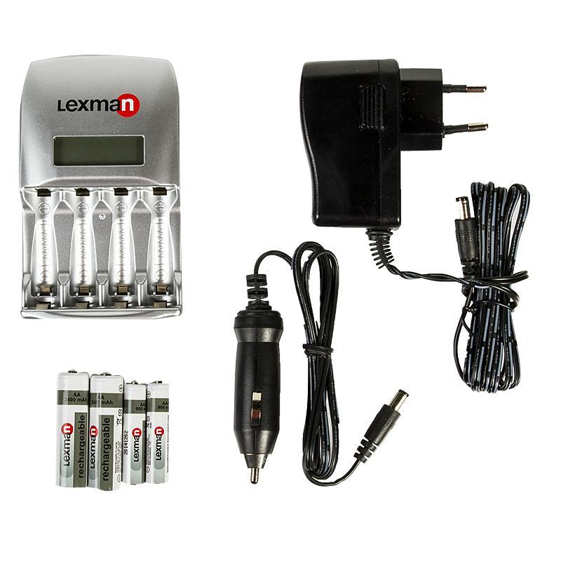 Зарядное устройство Lexman «Быстрая зарядка», с аккумуляторами АА 2400 мАч и ААА 900 мАч