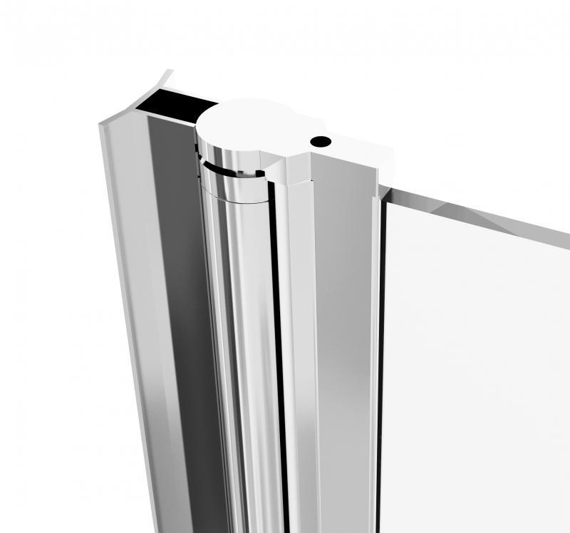 Дверь душевая «Комфорт» распашная, диапазон регулировки ширины 70-100 см