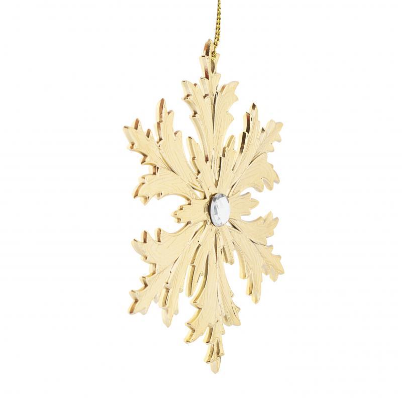 Украшение ёлочное «Снежинка Кристалл», с камнем, 11 см