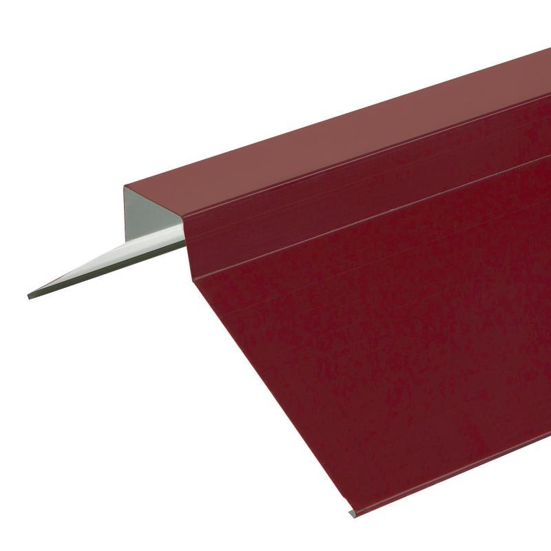 Конёк плоский 2 м RAL 3005 красный