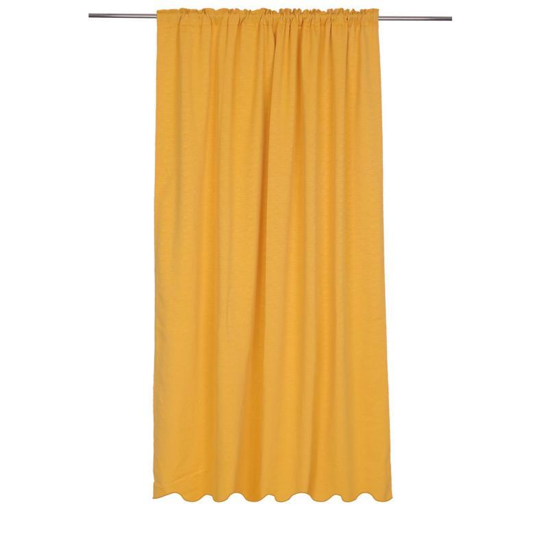 Штора на ленте «Рика» 140х260 см цвет жёлтый
