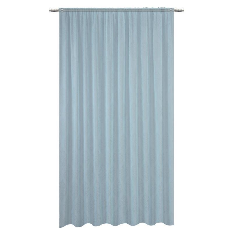Тюль на ленте «Ризутто» 300х260 см цвет синий