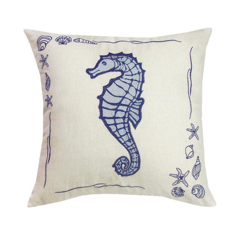 Подушка декоративная «Море: Конёк», 40х40 см,