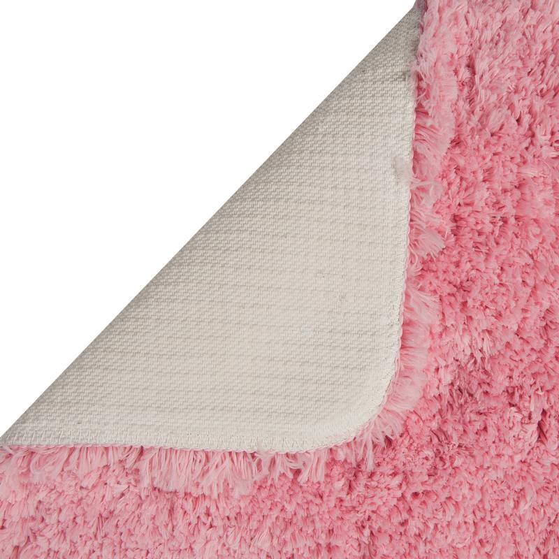 Коврик для туалета 55х55 см цвет розовый