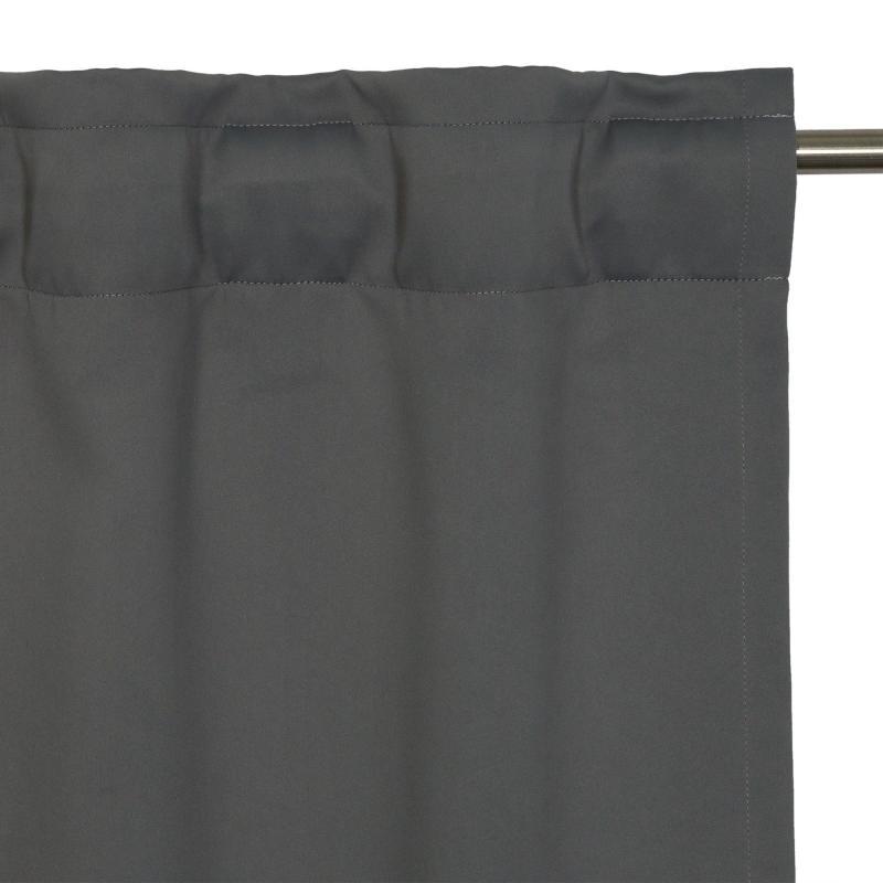 Штора на ленте «Ночь», 200x280 см, цвет серый
