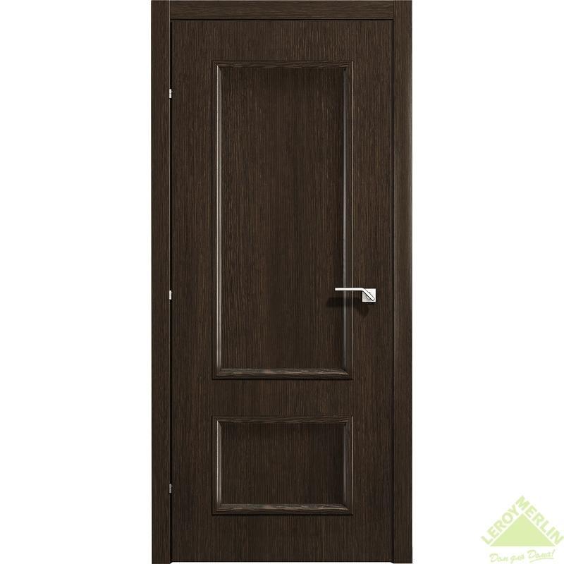 Дверь межкомнатная глухая 5001 КД 21-9 с фурнитурой, черный дуб