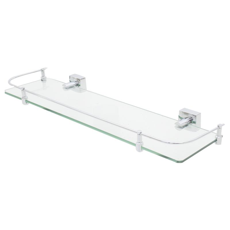 Полка для ванной комнаты Fixen «Kvadro» с ограничителем стекло