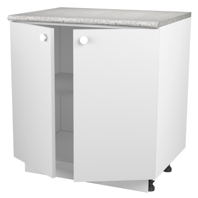 Шкаф напольный «Бьянка Ал» с фасадом 80 см, цвет белый