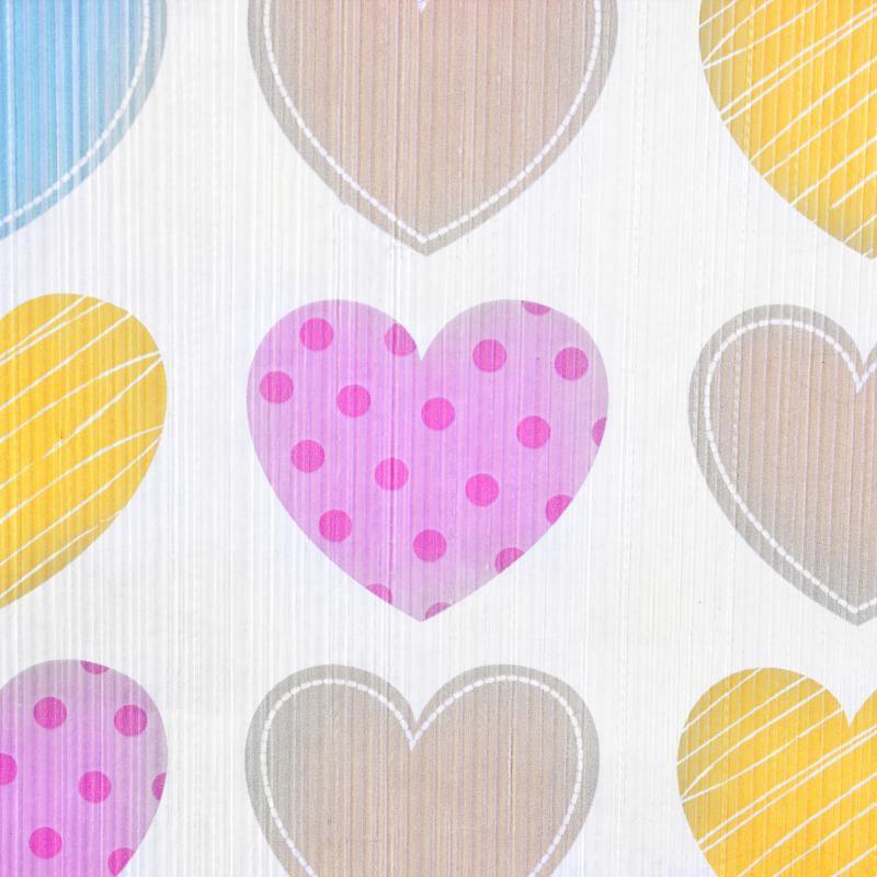 Обои бумажные для детской 0.53х10 м цвет розово-жёлтый АС 935662