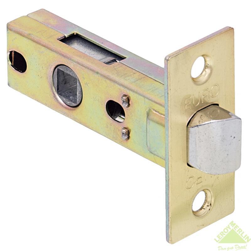 Защёлка для межкомнатных дверей Euro, 8х45 мм, сталь, цвет матовая латунь