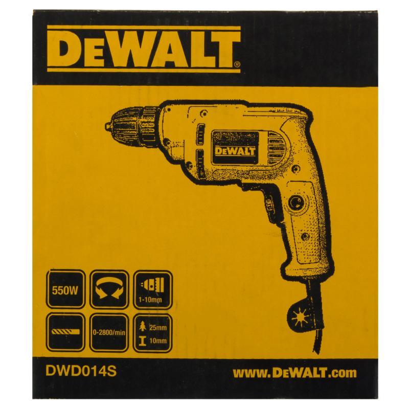 Дрель сетевая безударная DeWalt DWD014S, 550 Вт