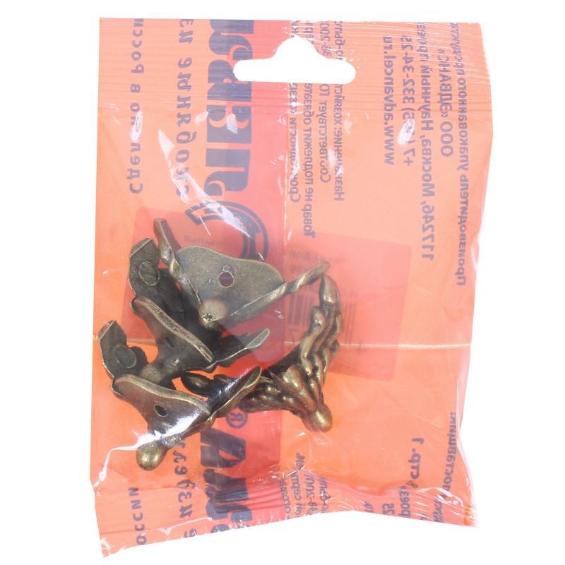 Ножка для шкатулок «Крылья» 20x36 мм цвет бронза, 4 шт.