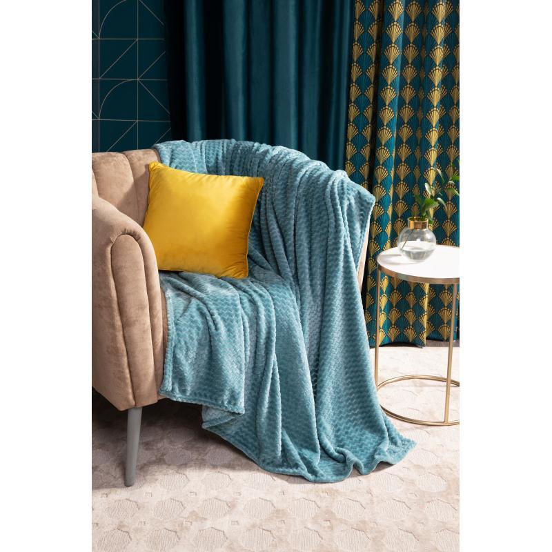 Плед «Велсофт», 150x200 см, полиэстер, цвет бирюзовый