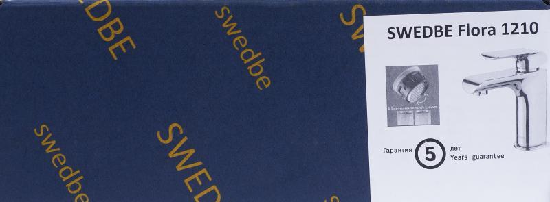 Смеситель для раковины Swedbe Flora однорычажный цвет хром