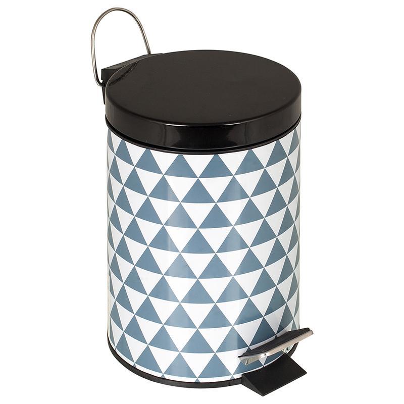 Бак для мусора Arlequin, 3 л, цвет черный хром